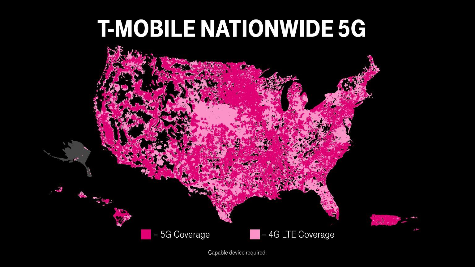 T-Mobile 5G Nationwide Map US