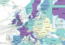 Submarine Cable Map 2021 Europe