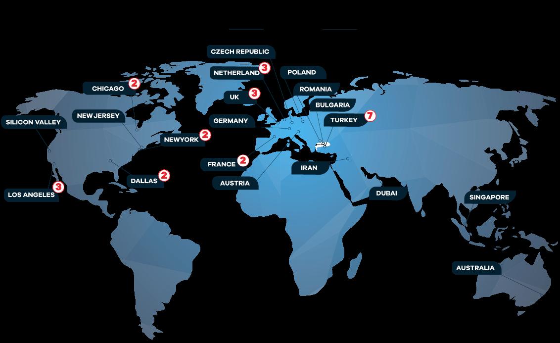 Medianova CDN map