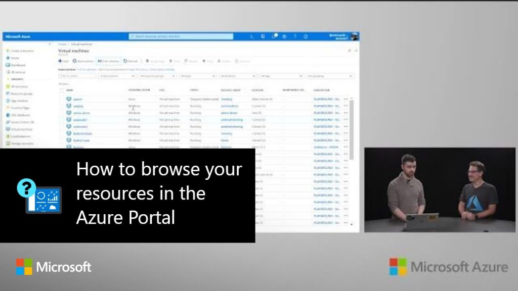How to browse your resources in the Azure Portal | Azure