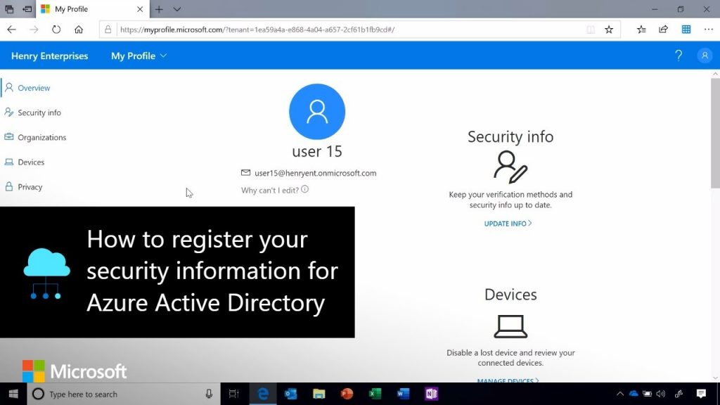 How To Register Your Security Information For Azure Active Directory Internet Technology News