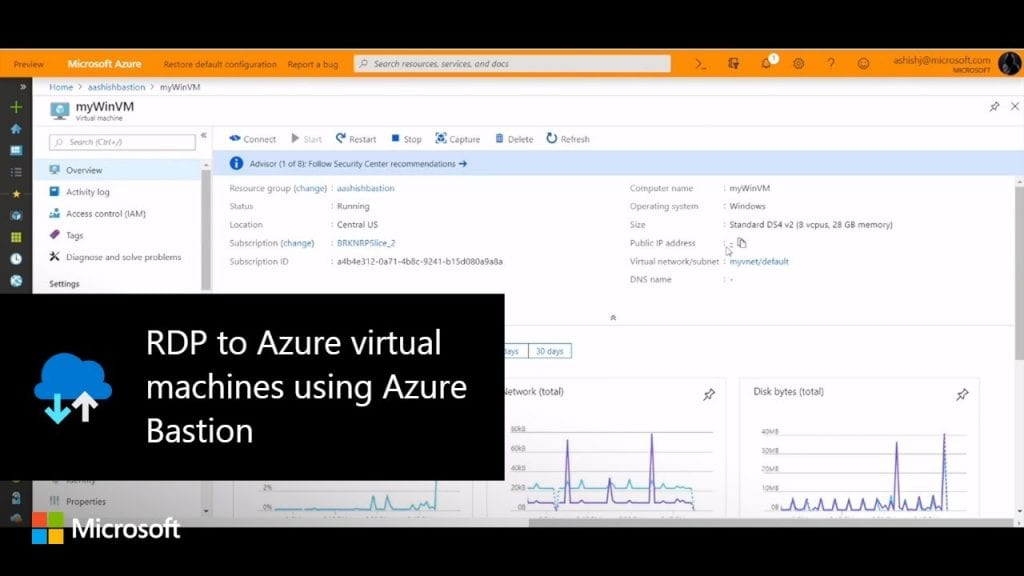 RDP to Azure Virtual machines using Azure Bastion - Internet
