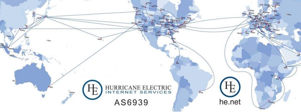 Hurricane Electric global network