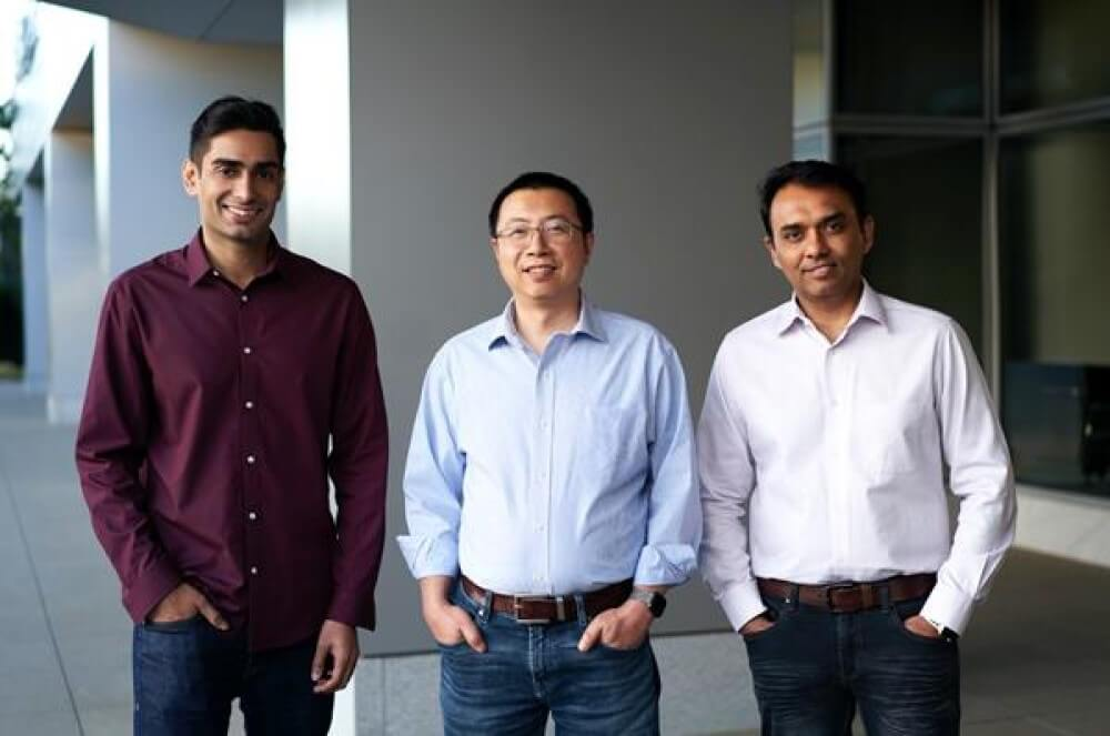 Photo Spectro Cloud co-founders Saad Malik (CTO), Tenry Fu (CEO) and Gautam Joshi (VP of Engineering).